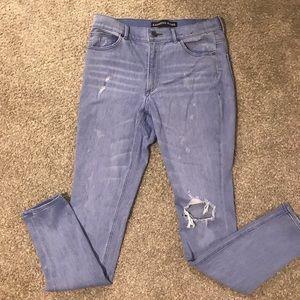 Express distressed skinny jean leggings 10L